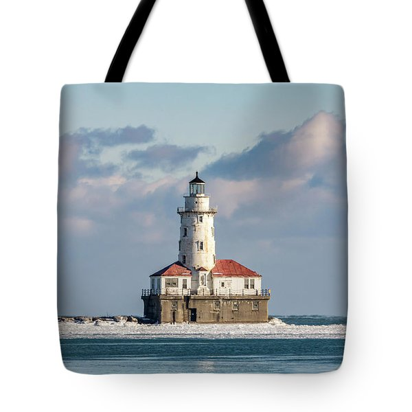 Chicago Harbour Light Tote Bag