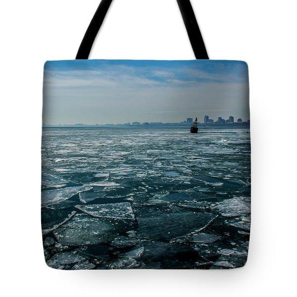 Chicago In Winter Tote Bag