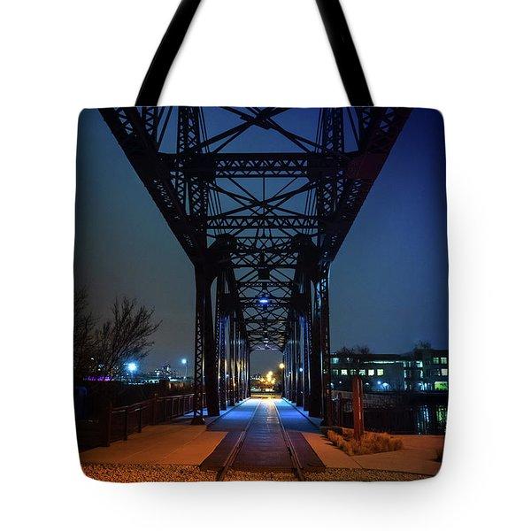 Chicago Railroad Bridge Tote Bag