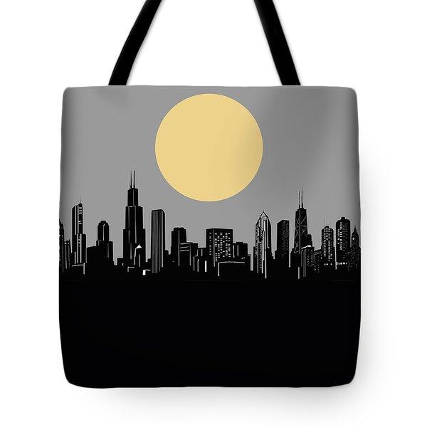 Chicago Skyline Minimalism 2 Tote Bag