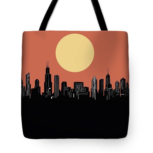 Chicago Skyline Minimalism 4 Tote Bag