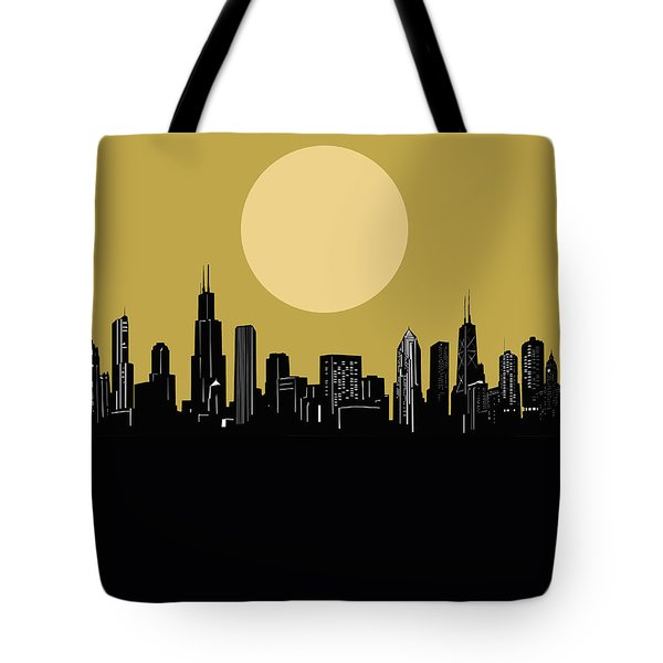 Chicago Skyline Minimalism 5 Tote Bag