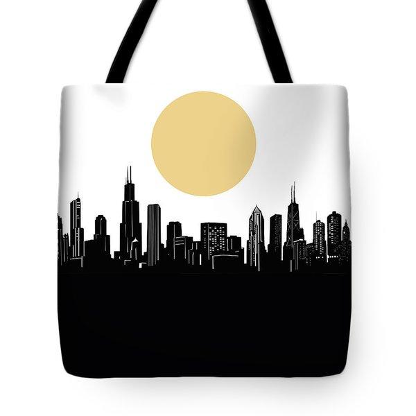 Chicago Skyline Minimalism Tote Bag