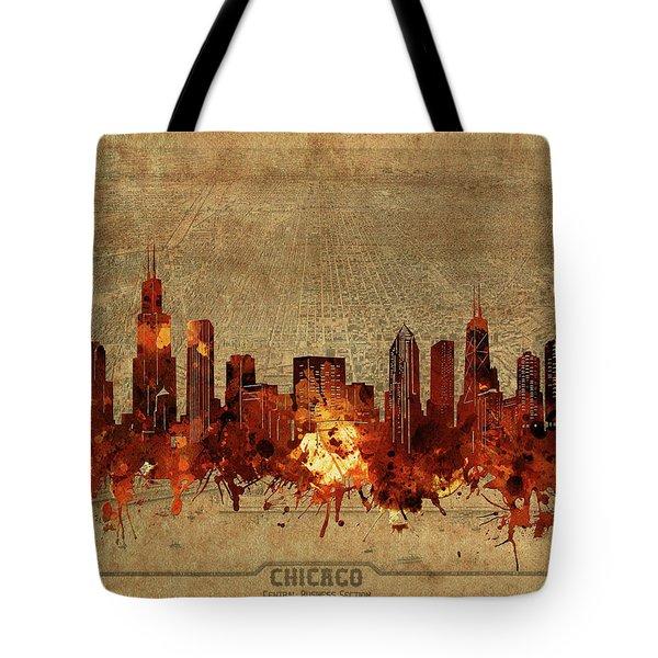 Chicago Skyline Vintage 2 Tote Bag