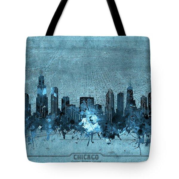 Chicago Skyline Vintage 4 Tote Bag