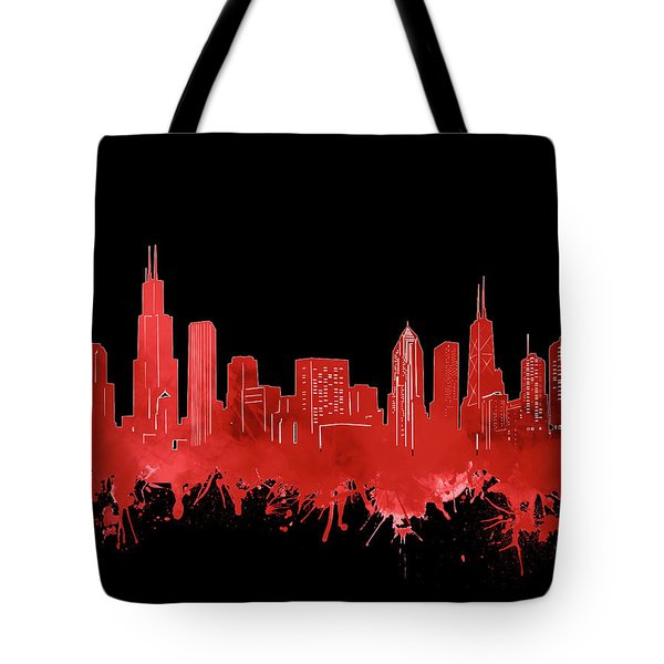 Chicago Skyline Watercolor 5 Tote Bag