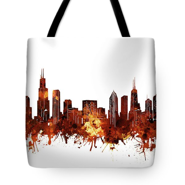 Chicago Skyline Watercolor 6 Tote Bag