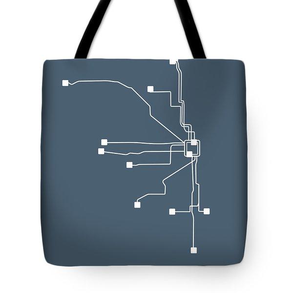 Chicago Subway Map Tote Bag
