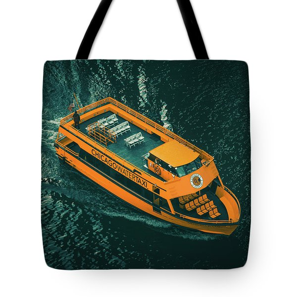 Chicago Taxi Tote Bag