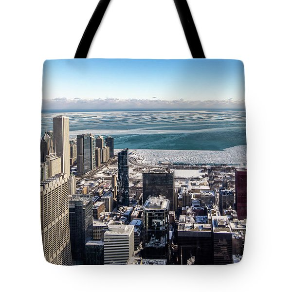 Chicago View Angled Tote Bag