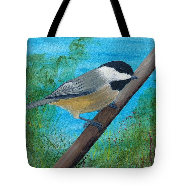 Chickadee 2 Tote Bag