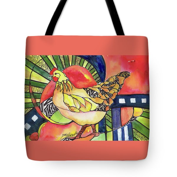 Chicken Red Tote Bag