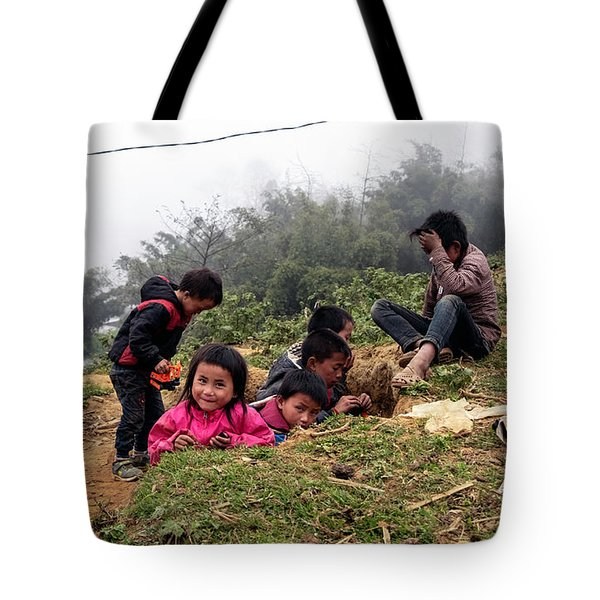 Children At Play - Sapa, Vietnam Tote Bag