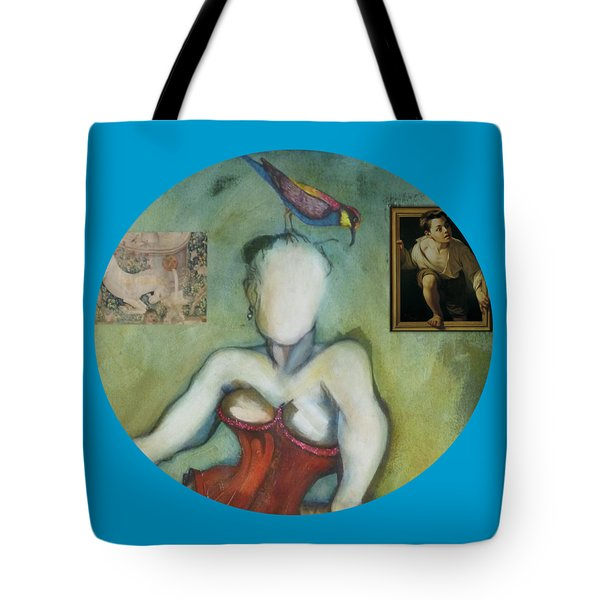 Chin Chin With An Imaginary Bird On Her Head Tote Bag
