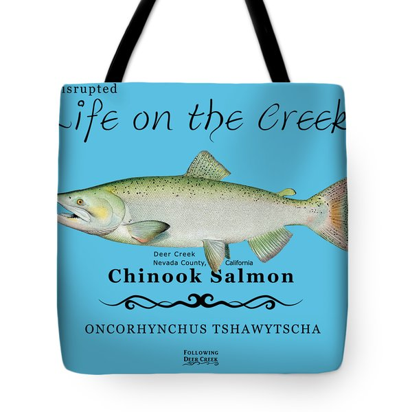 Chinook Salmon Disrupted Tote Bag
