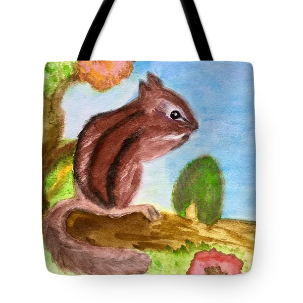 Chipmunk By Dee Tote Bag