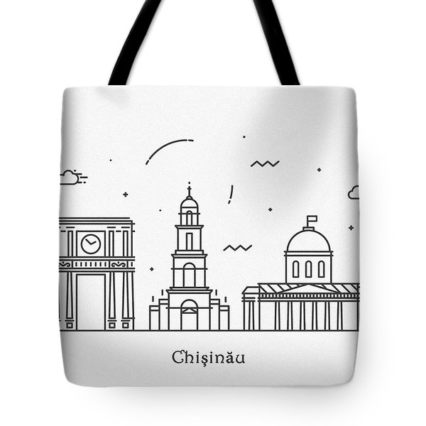 Chisinau Cityscape Travel Poster Tote Bag