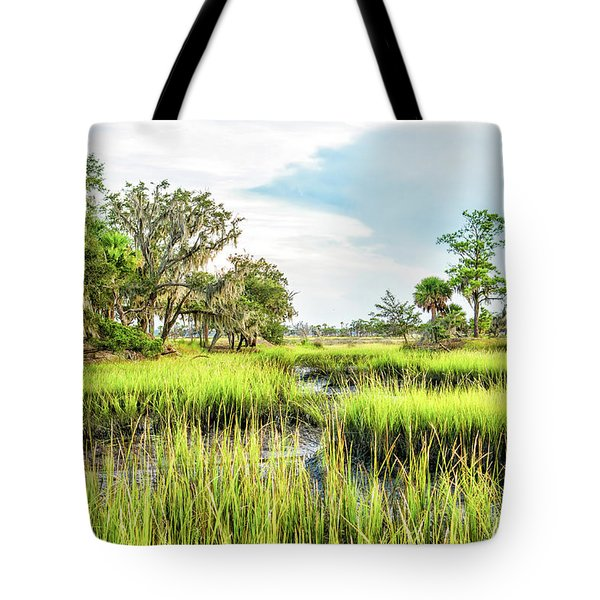 Chisolm Island - Marsh At Low Tide Tote Bag