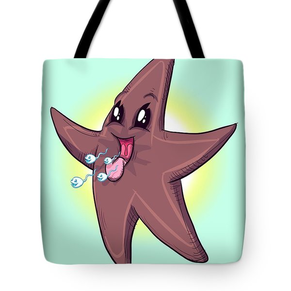 Chocolate Starfish Tote Bag
