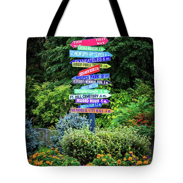Tote Bag featuring the photograph Choices - Finger Lakes, New York by Lynn Bauer