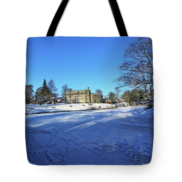 Chorley. Astley Hall In The Snow Tote Bag