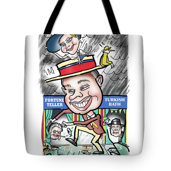 Tote Bag featuring the digital art Chris And Mia by Mark Armstrong