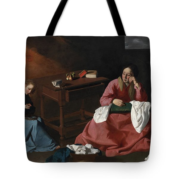 Christ And The Virgin In The House At Nazareth, 1640 Tote Bag