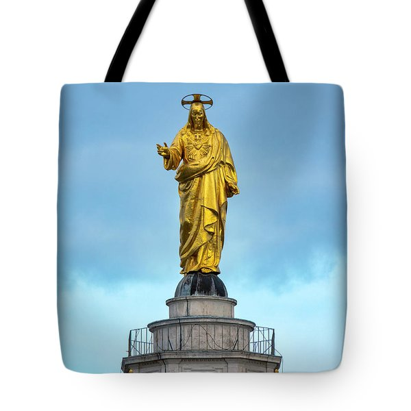 Tote Bag featuring the photograph Christ The Redeemer by Fabrizio Troiani