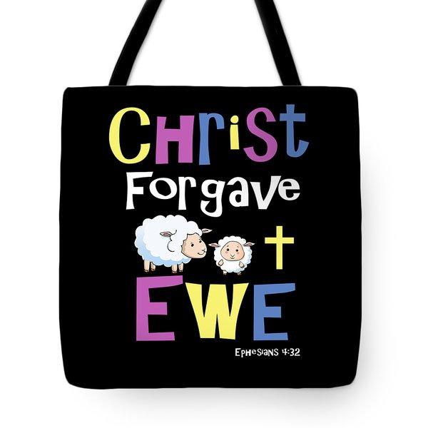 Christian Gifts For Kids Christ Forgave Ewe Tote Bag