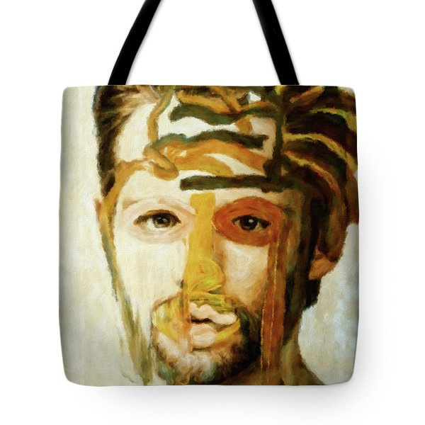 Tote Bag featuring the mixed media Christian by Susan Maxwell Schmidt