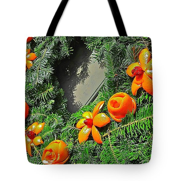 Tote Bag featuring the photograph Christmas Citrus by Don Moore