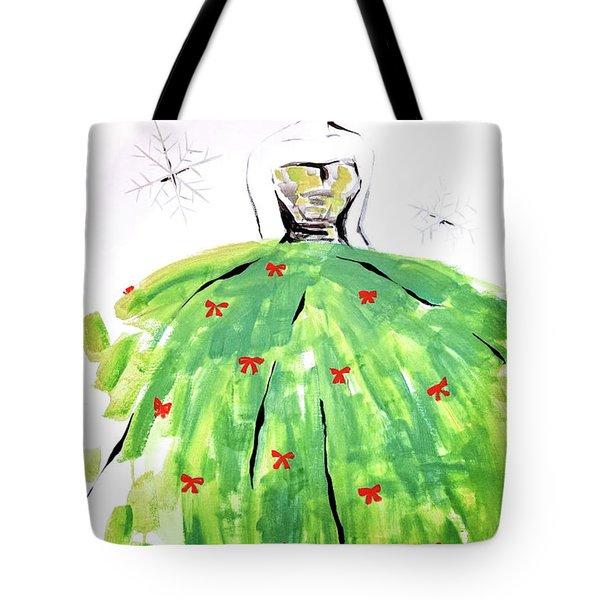 Christmas Fashion Girl Tote Bag