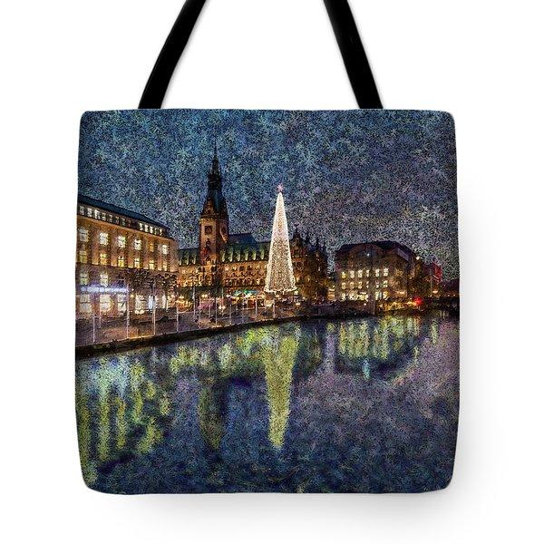 Christmas Hamburg Tote Bag