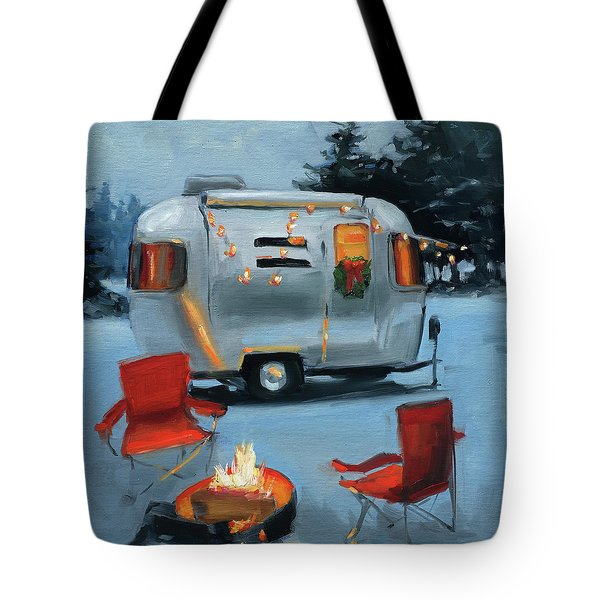 Christmas In The Snow Tote Bag