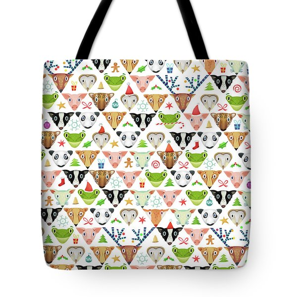 Christmas Pattern Tote Bag