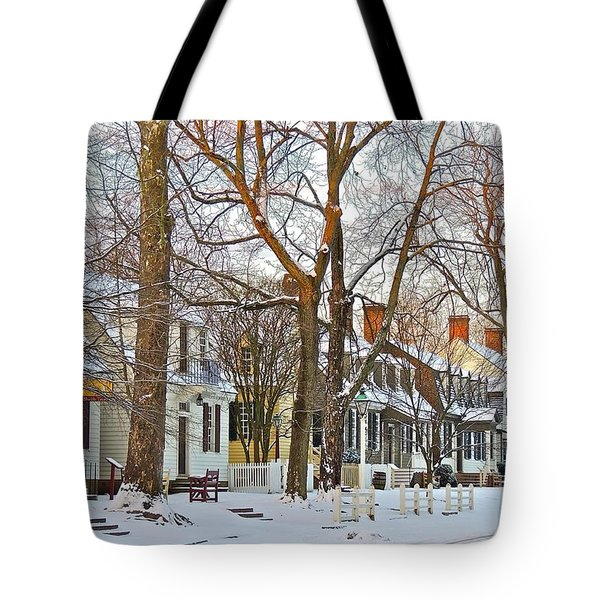 Tote Bag featuring the photograph Christmas Snow by Don Moore