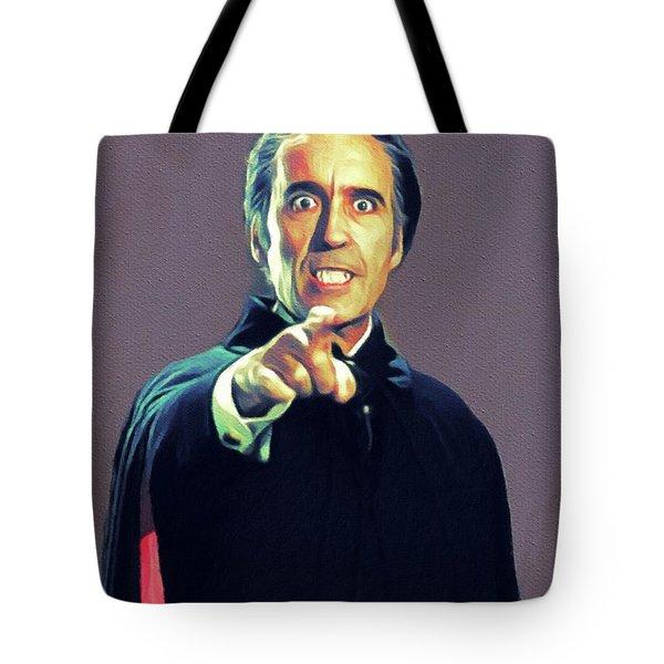 Christopher Lee As Dracula Tote Bag