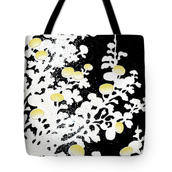 Chrysanthemum Flowers In White And Yellow Tote Bag