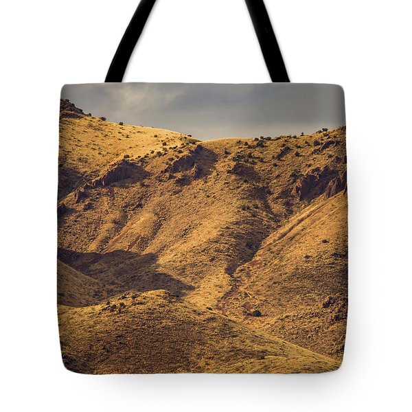 Tote Bag featuring the photograph Chupadera Mountains by Jeff Phillippi