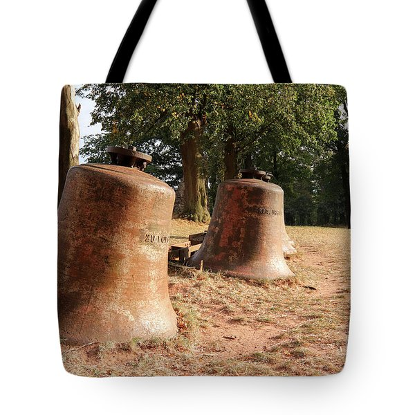 Church Bells Laid In The Landscape Tote Bag