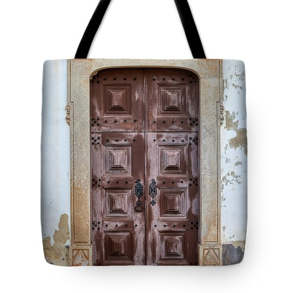 Tote Bag featuring the photograph Church Door Of Obidos by David Letts