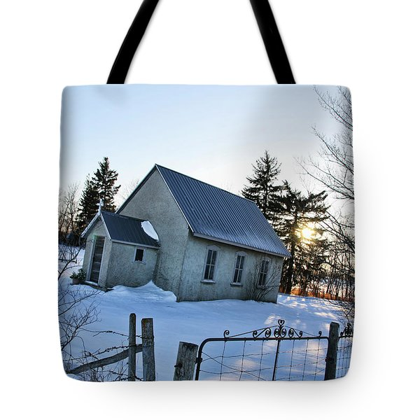 Church On Brewer Road Tote Bag