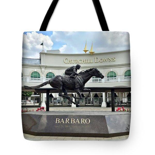 Churchill Downs Barbaro Tote Bag