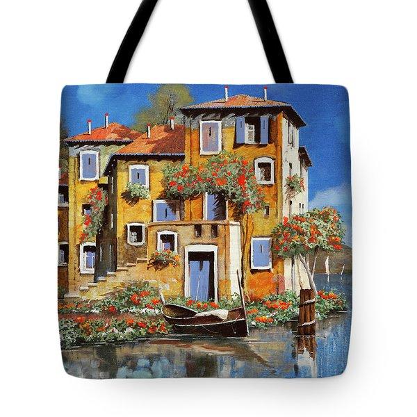 Cieloblu-muri Gialli Tote Bag