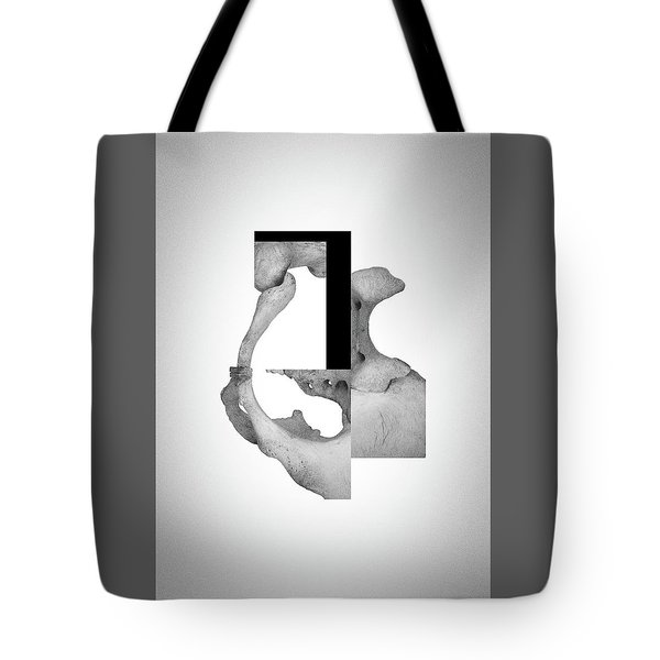 Cinerealism Bereft - Surreal Abstract Bone Collage And Geometry Tote Bag