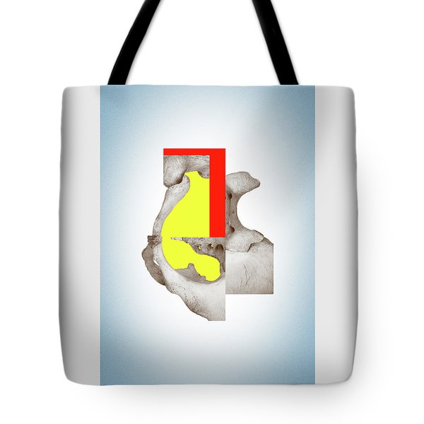 Cinerealism - Surreal Abstract Bone Collage And Geometry Tote Bag