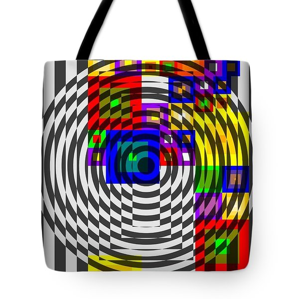 Circular Colour Fusion  Tote Bag