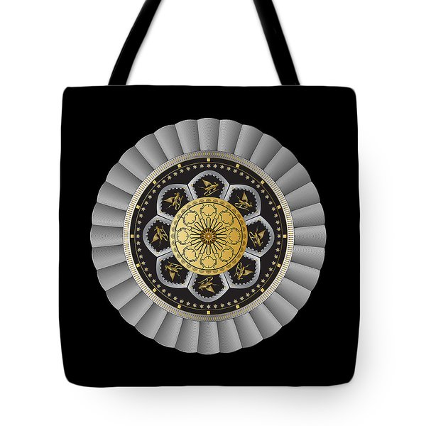 Tote Bag featuring the digital art Circulosity No 3442 by Alan Bennington