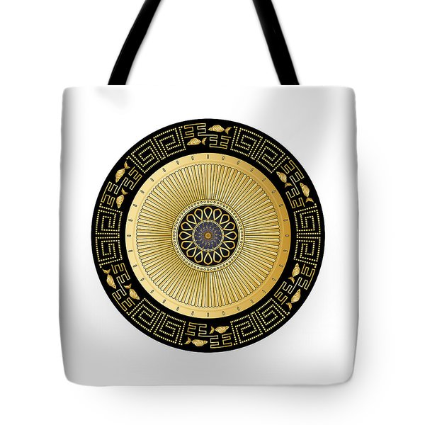 Tote Bag featuring the digital art Circulosity No 3443 by Alan Bennington