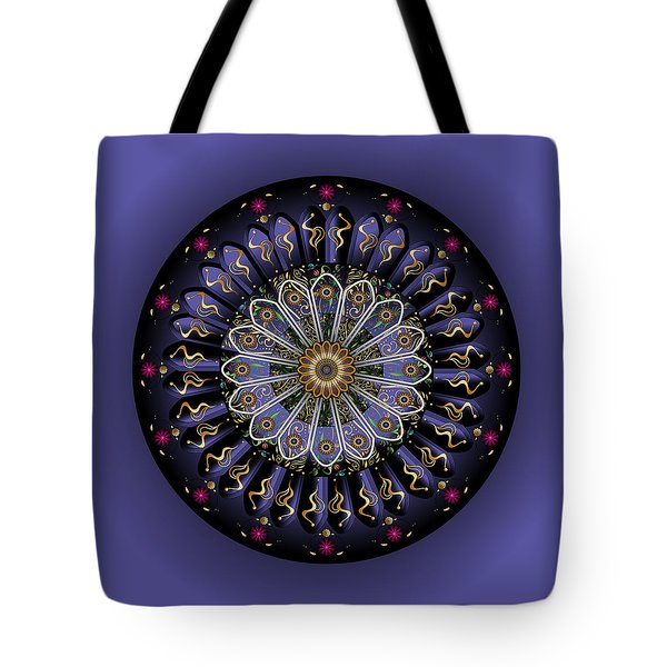 Tote Bag featuring the digital art Circulosity No 3446 by Alan Bennington